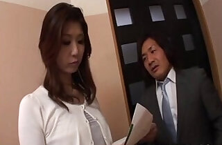 Horny businessman seduces sexy cougar Nanako Yoshioka in her house.  xxx porn