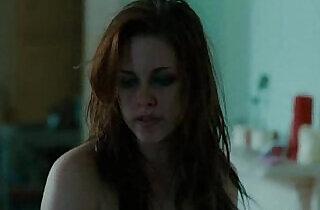 Kristen Stewart stripping in sexy black lingerie.  xxx porn