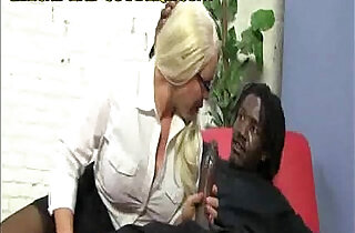 Cougar Helps Black huge cock Stud.  xxx porn