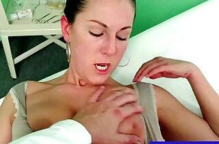 Faux doctor fingering pussy.  xxx porn