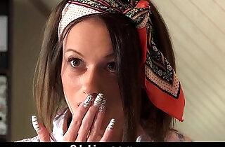 Teen housekeeper resist fucking her old boss.  xxx porn