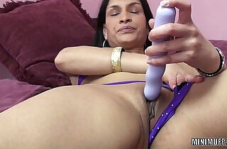 Exotic MILF Naomi Shah uses a toy on her tight twat.  xxx porn