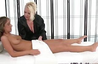 Busty lesbian masseuse licks pussy.  hornylesbo  ,  leaking  ,  massage  ,  pussycats  ,  sapphic erotica   xxx porn