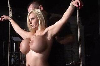 tied slave Melanie gets electro training.  xxx porn