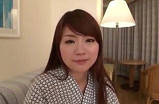 Mayuka Akimoto lingerie girl blows cock in POV.  xxx porn