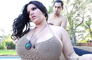 Big titted angelina castro blows the pool guy outdoors.  giant titties  ,  outdoor  ,  tits   xxx porn