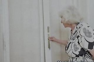 Fuzzy granny jizz mouthed.  xxx porn