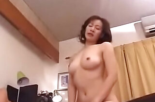 Old Japanese Step Mom Loves Her Sons Cock.  xxx porn