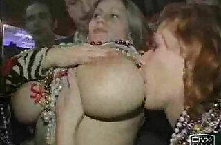 Busty slut girl big boobs at Mardi Gras.  hitchhiking  ,  slutty  ,  tits   xxx porn