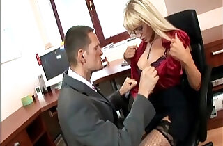 Secretary in thigh highs fucking at the office.  xxx porn