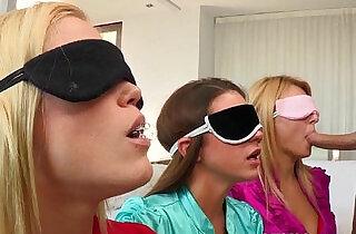 Blindfolded cfnm babe Natalia Starr bj.  xxx porn
