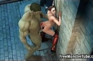 3D Harely Quinn gets fucked outdoors by The Hulk.  xxx porn