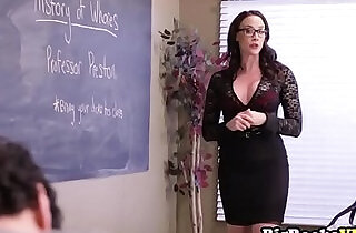Horny teacher Chanel Preston fucks three students on class.  sex teacher  ,  studs   xxx porn