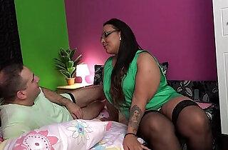 BBW girl gives a gift for a lucky boy.  xxx porn