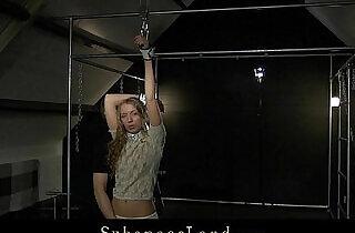 Curly blonde Mary Dream hard bdsm training.  xxx porn