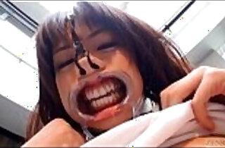 Subtitled weird Japanese face destruction shaved schoolgirl.  xxx porn
