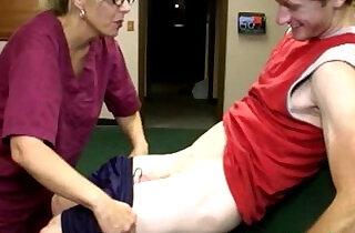 Cum loving milf nurse with jizz.  xxx porn