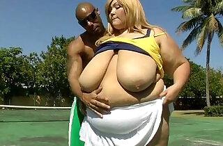 Sexy Super BBW Anastasia Fucks Stud Trainer.  xxx porn