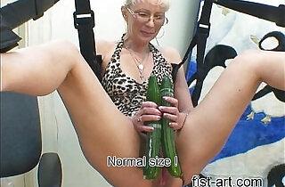 Marcella with cucumber.  xxx porn
