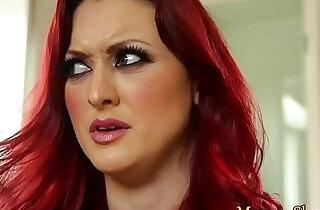 Busty stepmother seduces her stepdaughter.  xxx porn