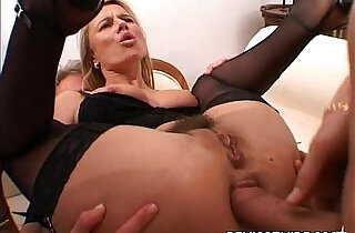Blonde amateur blonde MILF welcoming a huge long hard dick in her gaping asshole.  fetishes  ,  gaped  ,  MILF porno   xxx porn