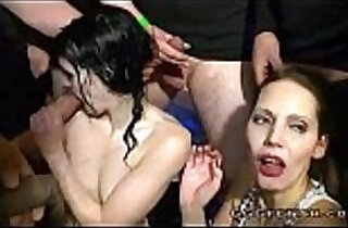 Girls gets cumshots and facials with golden showers.  xxx porn