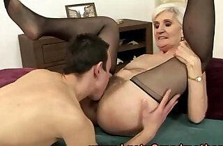 Blonde granny pussy eating.  xxx porn