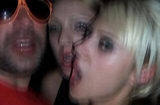 Blonde slut gets a mouthful of cum.  xxx porn