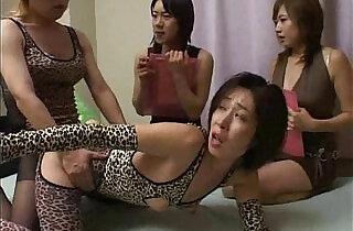 Crossdresser fucks mistress in front of two other ladies.  xxx porn