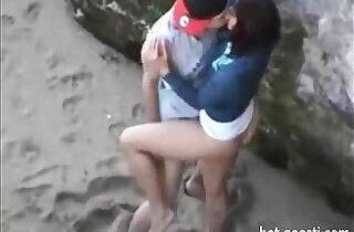 Teens are so horny that hump right on public beach.  xxx porn