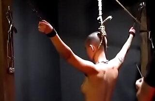 Owned slave slut gets her neck branded by her master.  xxx porn