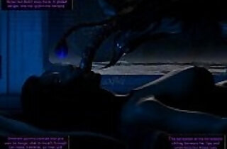 Alien creature invades bedroom!.  xxx porn