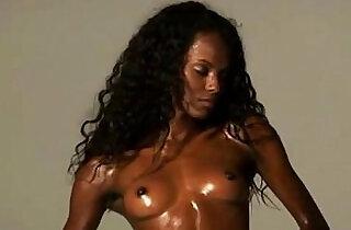 chocolate skin flexible African model wide legs opening.  xxx porn