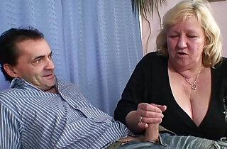 They pound big granny from both sides.  xxx porn
