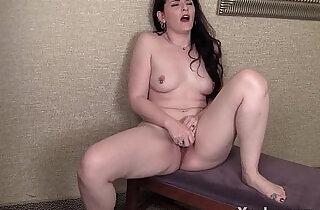 MILF Caroline Vibrating Her Pierced Pussy.  xxx porn