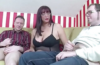 German Step Mom Teach two Young Boys How to Fuck Right.  xxx porn