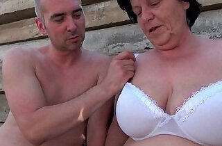 BBW granny makes the best of grandpas small penis.  xxx porn