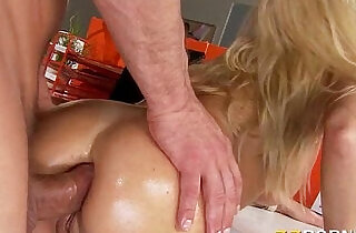 Huge natural boobs slut girl Devon asshole pounded hard by her coworker.  xxx porn