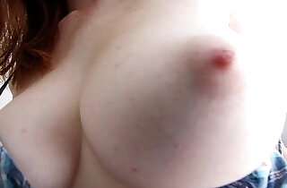 ShesNew Amateur girl with Natural tits and bigass rides white cock.  xxx porn
