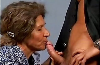Hairy Granny Fuck Young Guy.  young-old   xxx porn